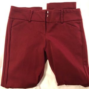 Burgundy stretch dress pants
